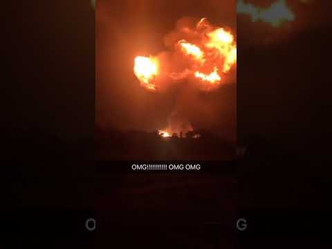 Massive Gas Explosion in Accra - Atomic junction, Ghana.