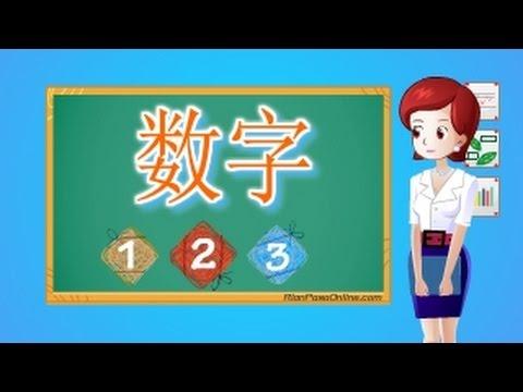 คำศัพท์ภาษาจีน เลข 1-10 数字