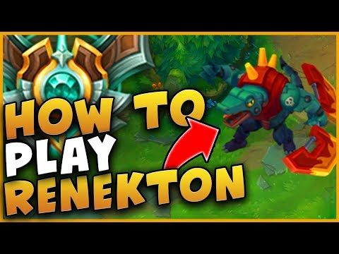 OMG?!? HOW TO PLAY RENEKTON IN HIGH ELO!!! STEP BY STEP GUIDE!!! SEASON 9 - LEAGUE OF LEGENDS