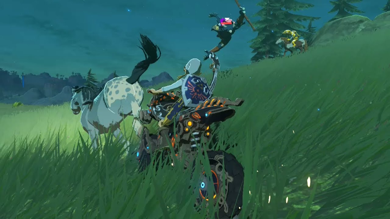 Zelda Breath Of The Wild Master Cycle: Link On The Master Cycle Zero Vs Bokoblins On Horses