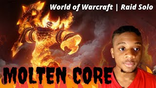 Defeating Ragnaros the Firelord! | MoĮten Core - WoW Raid Solo