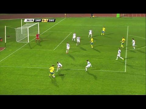 Höjdpunker: Sverige slog San Marino med 2-0 - TV4 Sport