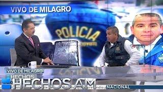 Entrevista. Policía sobrevive a un impacto de bala gracias a su celular