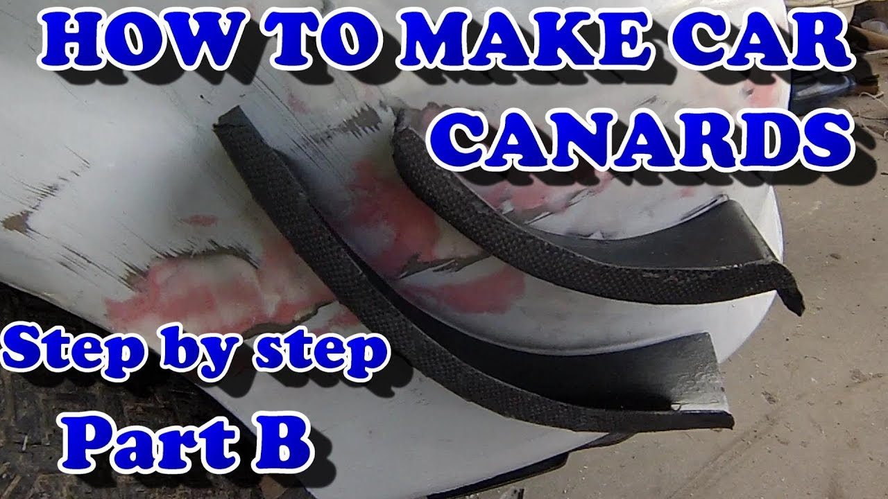 How To Make Car Canards Part B Youtube