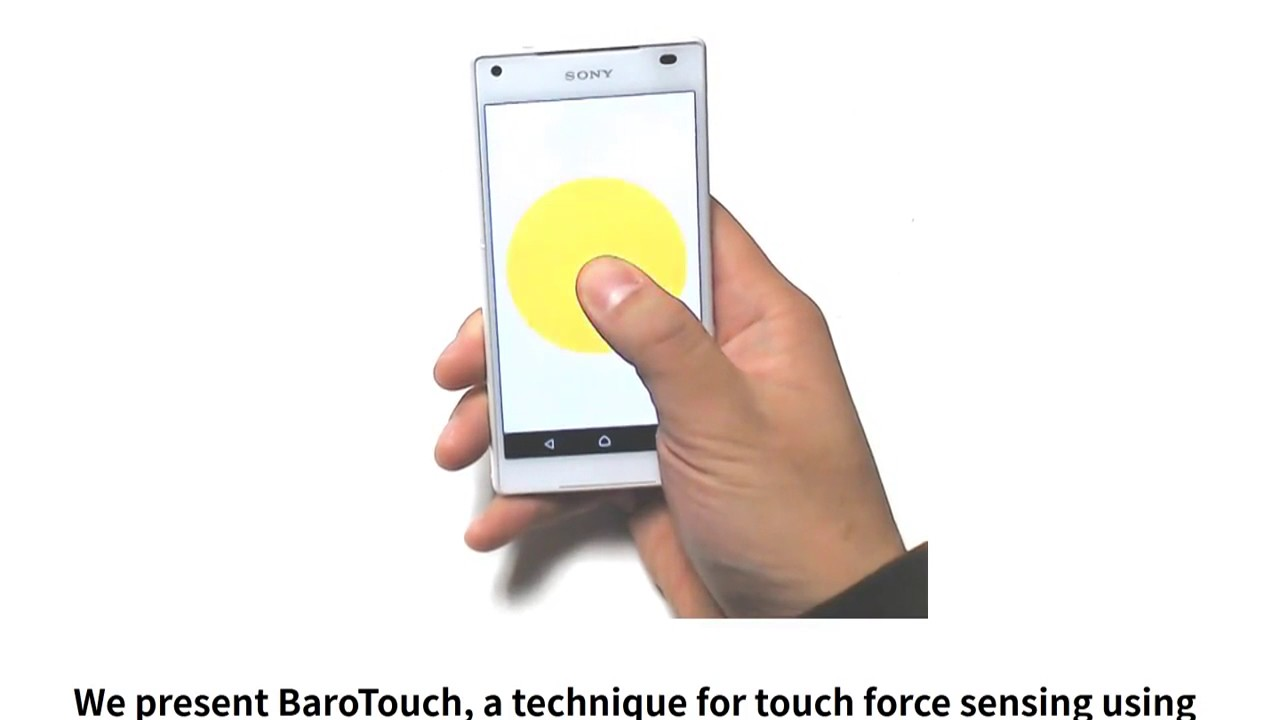 A Technique for Touch Force Sensing using a Waterproof
