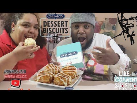 KFC NEW CINNABON DESSERT BISCUITS REVIEW