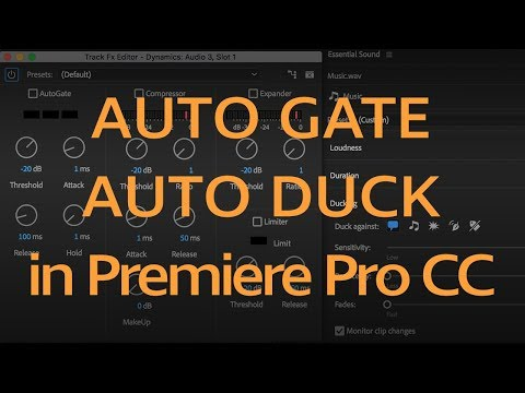 How to Mix Dialog & Music Together with Auto-Gate & Auto-Ducking in Premiere Pro CC 2018