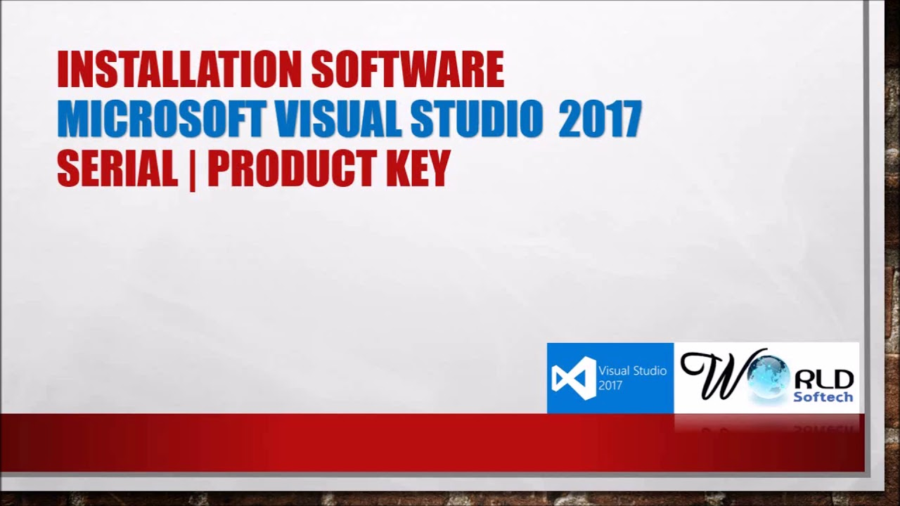 visual studio 2017 professional/enterprise product key