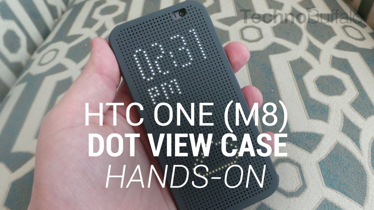 HTC One (M8) Dot View Case Hands-On