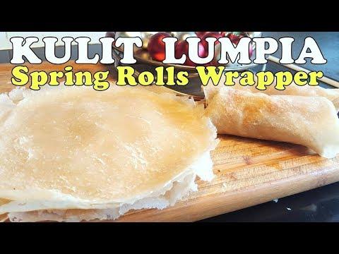 Cara Membuat Kulit Lumpia (Popiah) Lembut dan Tipis (How to Make Spring Rolls Skin)