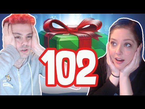 Unboxing 102 Winter Wonderland 2017 Loot Boxes [ft. My Girlfriend]