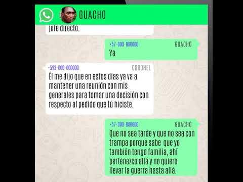 Así Fue El Chat Entre Guacho Y Un Coronel De La Policía De Ecuador