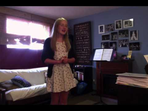 Claudia's audition for the part of Serena in Fame - the Musical