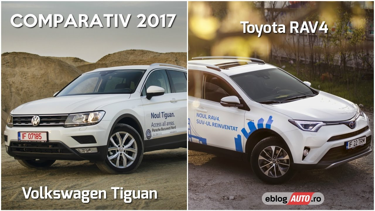 vw tiguan sau toyota rav4 hybrid 2017 comparativ test. Black Bedroom Furniture Sets. Home Design Ideas