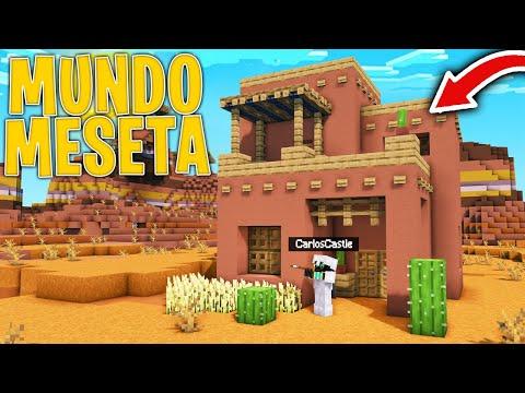 Sobrevivo en Minecraft pero en un Mundo de MESETA BALDÍA! 😱 ¿Sobreviviré? - CarlosCastle