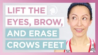 Naturally Lift The Eyes, Brow, and Erase Crows Feet The Right Way