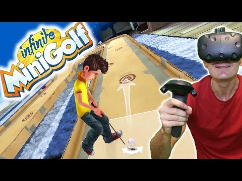 FINALLY HOLE IN ONE!   Infinite Mini Golf HTC Vive Gameplay with New Native VR Support!