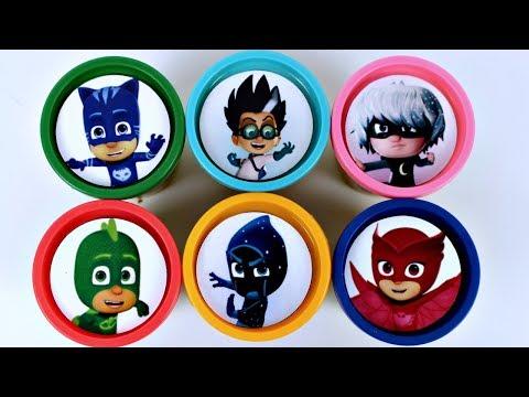 Learn Colors PJ MASKS Massinha de Modelar Play Doh com Surpresas Canal KidsToyShow