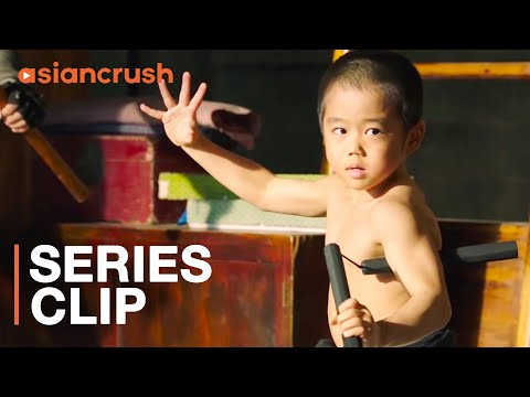 Little Bruce Lee Nunchucks Villains To Save His Fellow Toddlers | 'Oolang Courtyard Kung Fu School'