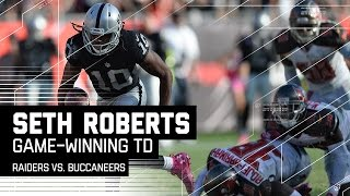 Derek Carr Hits Seth Roberts for the Game-Winning TD in OT! | Raiders vs. Buccaneers | NFL