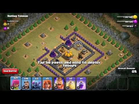 How to destroy rolling terror(clash of clans)