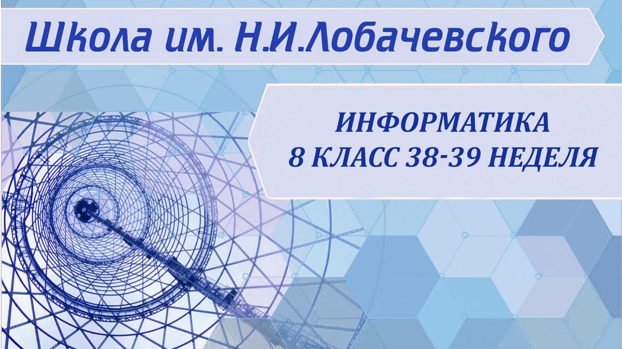 Информатика 8 класс 38-39 неделя Информация и информационные процессы