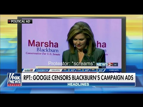 Marsha Blackburn Ad Flagged Over Footage of Left-Wing Protesters