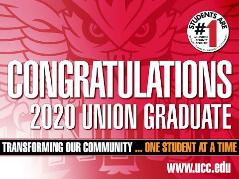 Congratulations Union County College Graduates Class of 2020