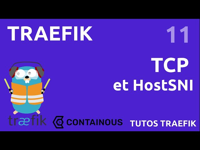 TRAEFIK - 11. TCP ET HOSTSNI (EX: MYSQL)