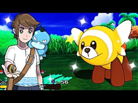Live Shiny Stufful After 78 SOS Encounters - Pokemon Sun & Moon