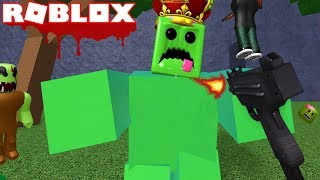 ROBLOX ZOMBIE ATTACK !! | DEFEATING THE GIANT ZOMBIE BOSS SLIME !! (ROBLOX ZOMBIES)