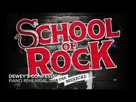 Dewey's Confession - School of Rock - Piano Accompaniment/Rehearsal Track