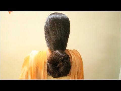 everyday-hairstyle-loose-hair-bun-|-simple-&-easy-loose-hair-bun-tutorial-|quick-loose-knot-hair-bun