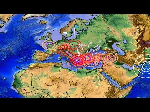 30/04/16 - Earthquakes Strike Across Europe + Pacific Plates Are Moving