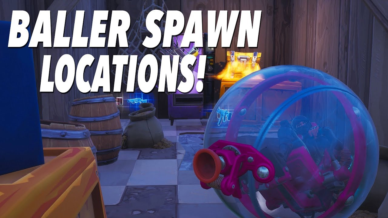 Baller Vehicle Spawn Locations And Testing Fortnite Youtube