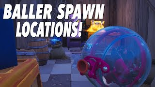 BALLER Vehicle Spawn Locations and Testing! (FORTNITE)