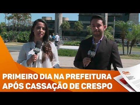 Primeiro dia na Prefeitura de Sorocaba após cassação de Crespo - TV SOROCABA/SBT