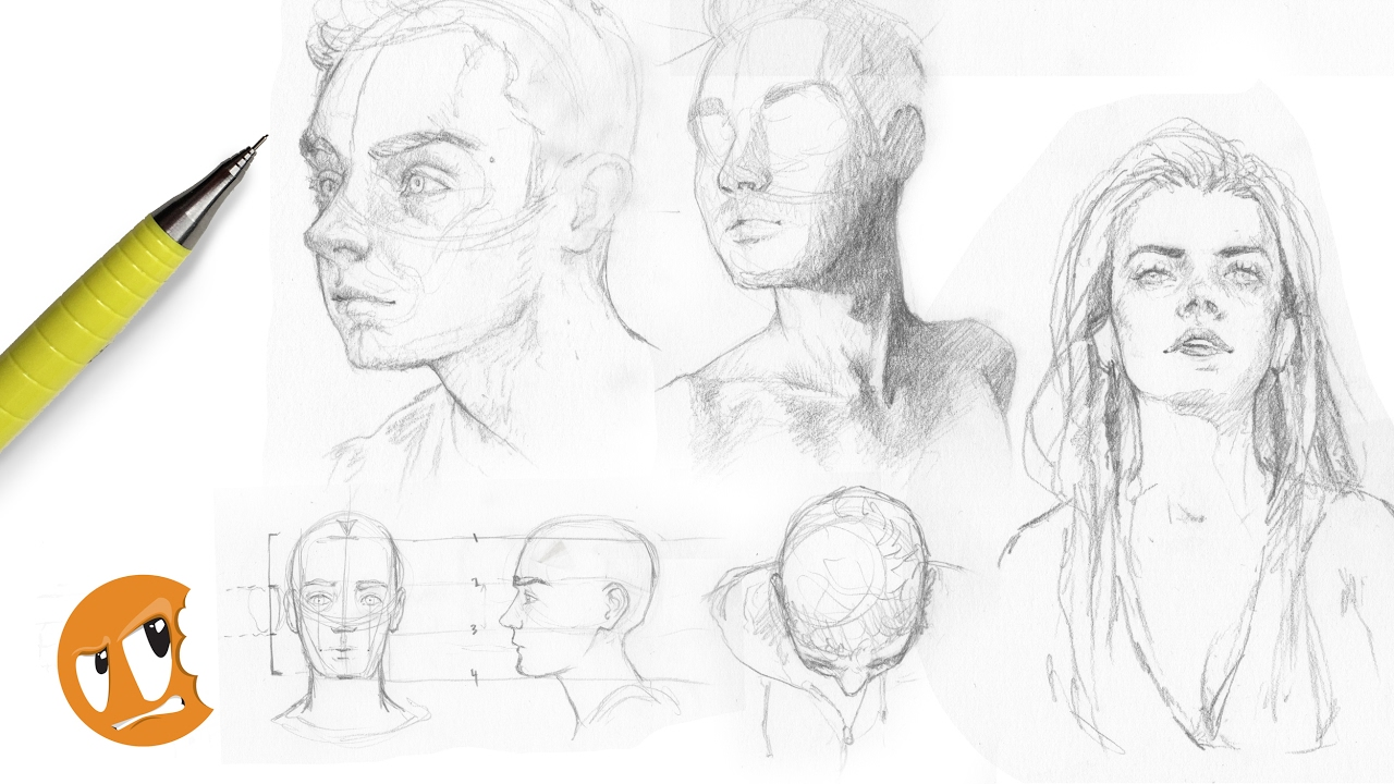 stream drawing heads from different angles youtube