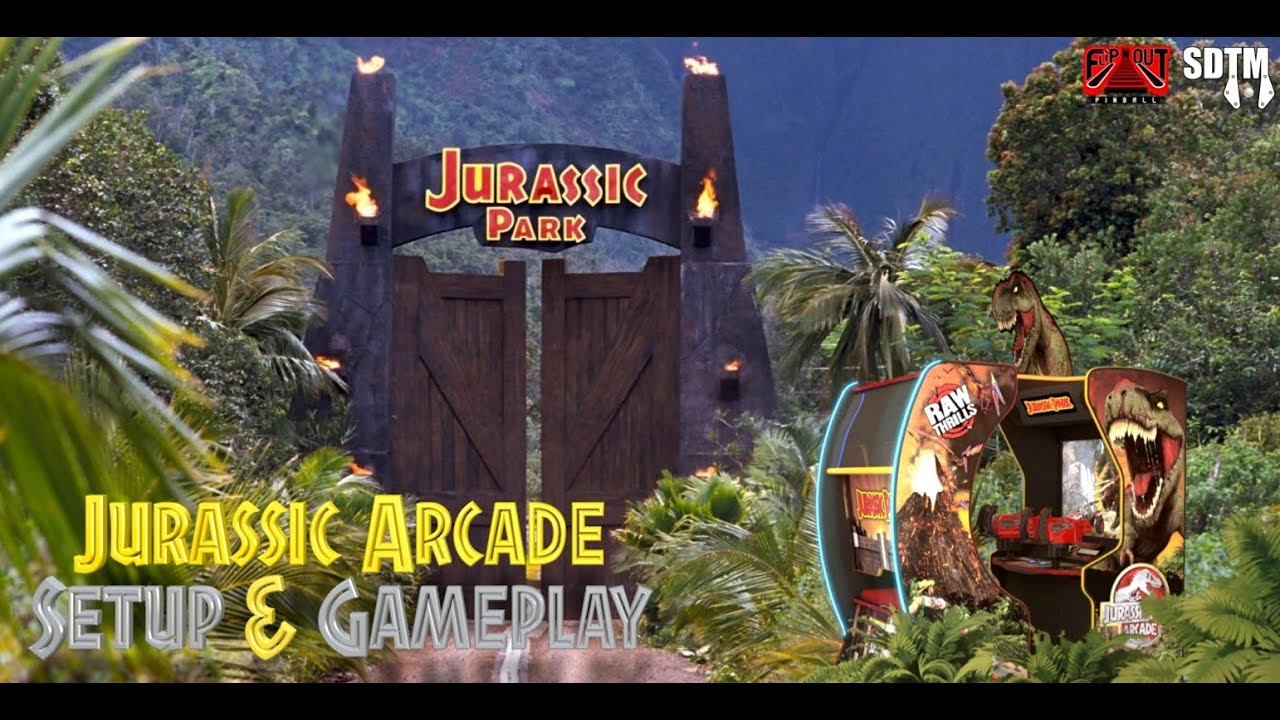 Jurassic Park Arcade Unboxing, Setup, & Gameplay (ICE Arcade Games, 2020) (Flip N Out Pinball, SDTM)
