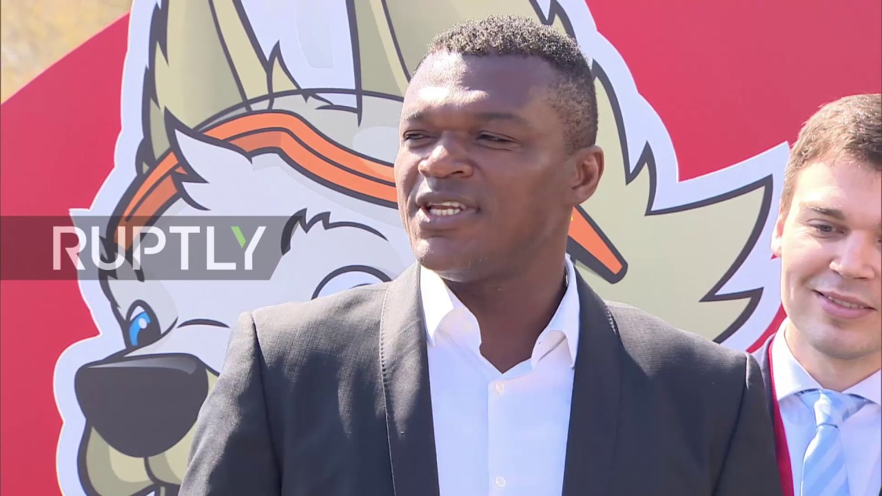 Russia Ex France star Marcel Desailly takes part in