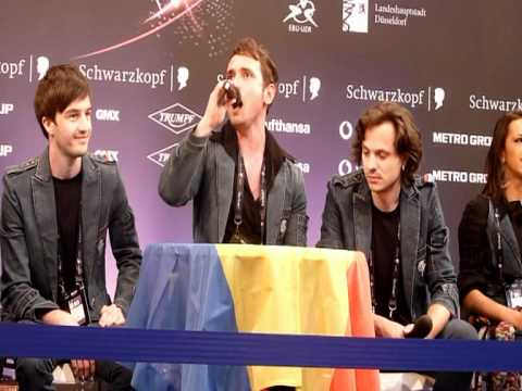 Romania first press con - singing opera.mpg