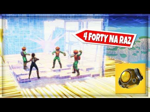 RZUCAMY 4 FORTY NA RAZ! CO SIĘ STANIE? TRYB PLAC ZABAW - Fortnite Battle Royale