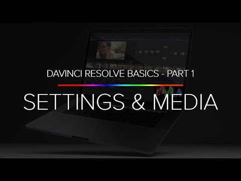 Learn Davinci Resolve 14 Basics - Part 1 (Project Settings And Importing Media)