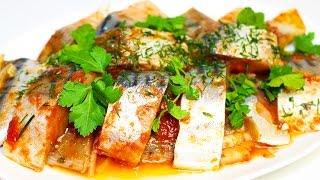 Скумбрия (сельдь) маринованная в томате. Рецепт вкусной рыбы