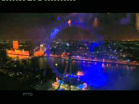 BBC1 New Year Live | 2006 into 2007 | Countdown and full fireworks! Part 2