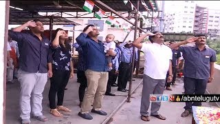 ABN Andhrajyothy MD Radhakrishna flag hoisting at ABN office | 72nd IndependenceDay Celebrations