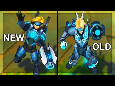 All Ezreal Skins NEW and OLD Texture Comparison Rework 2018 (League of Legends)