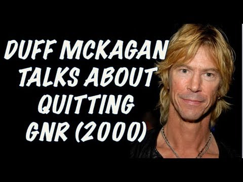 Guns N' Roses  Duff McKagan Talks About Quitting GNR & Get In The Ring!