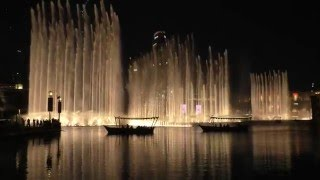 Dubai Fountaines at Burj Khalifa | Song: Baba Yetu | At Night