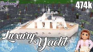 Bloxburg | I Built a Luxury Yacht! 474k | Speed Build